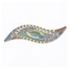 Resin Sew-on Piikki Stones 10pcs 14x47mm Silouhette Crystal Aurora Borealis